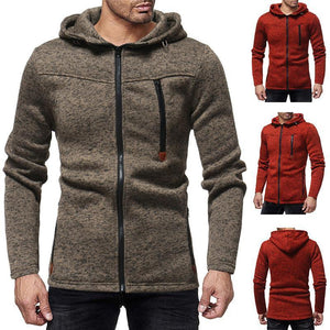 New Trend Fashion Solid Color Slim Street Men's Jacket