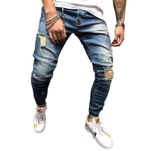 Men's Jeans Teen Shredded Feet Pants