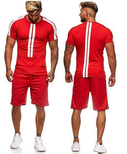 Summer New Men's Short-Sleeved Suit Fashion Casual T-Shirt