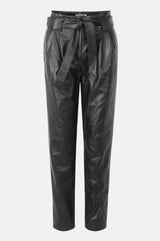 Sago leather trousers