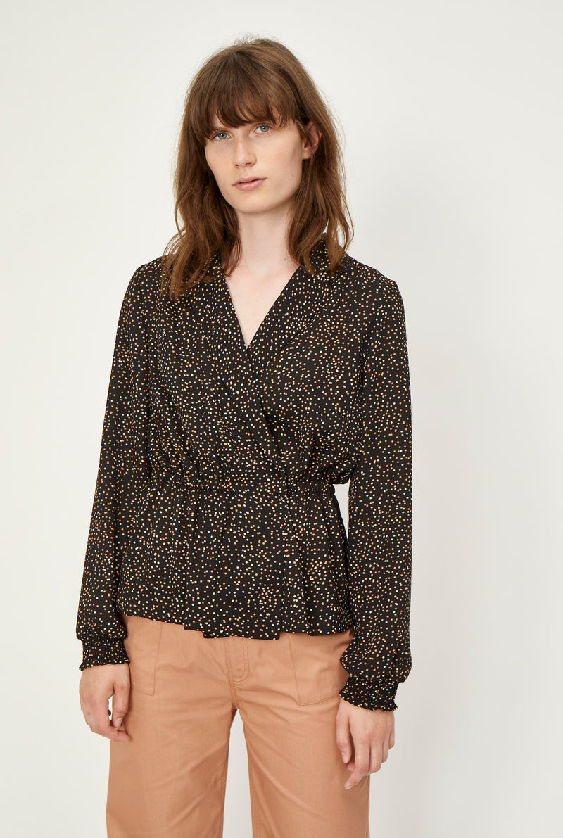 Imogene wrap blouse