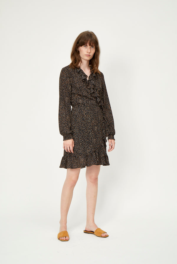 Imogene wrap dress
