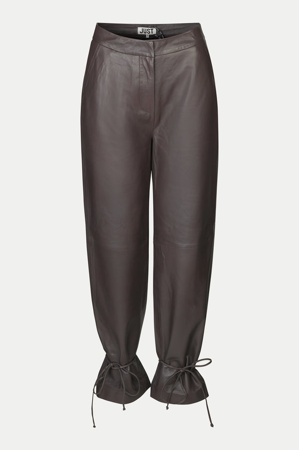 Fall leather trousers