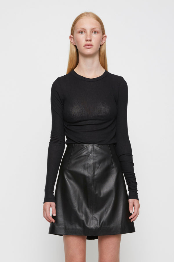 Moon leather skirt