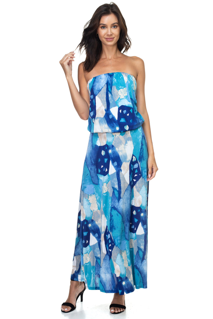 Ariella/D747-V544 strapless maxi dress
