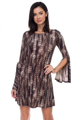 Ariella/D603-V357 Bell Sleeve Dress