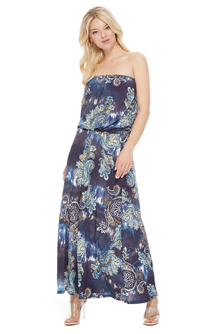 Ariella/d747-V568 strapless maxi dress