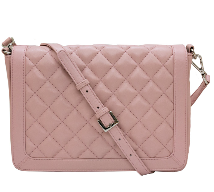 ILI | Pink Leather Crossbody Clutch