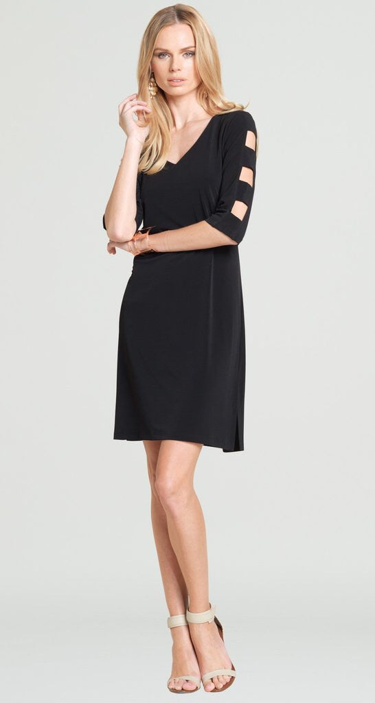 Clara-Sun Woo/DR512 black cut out sleeve dress
