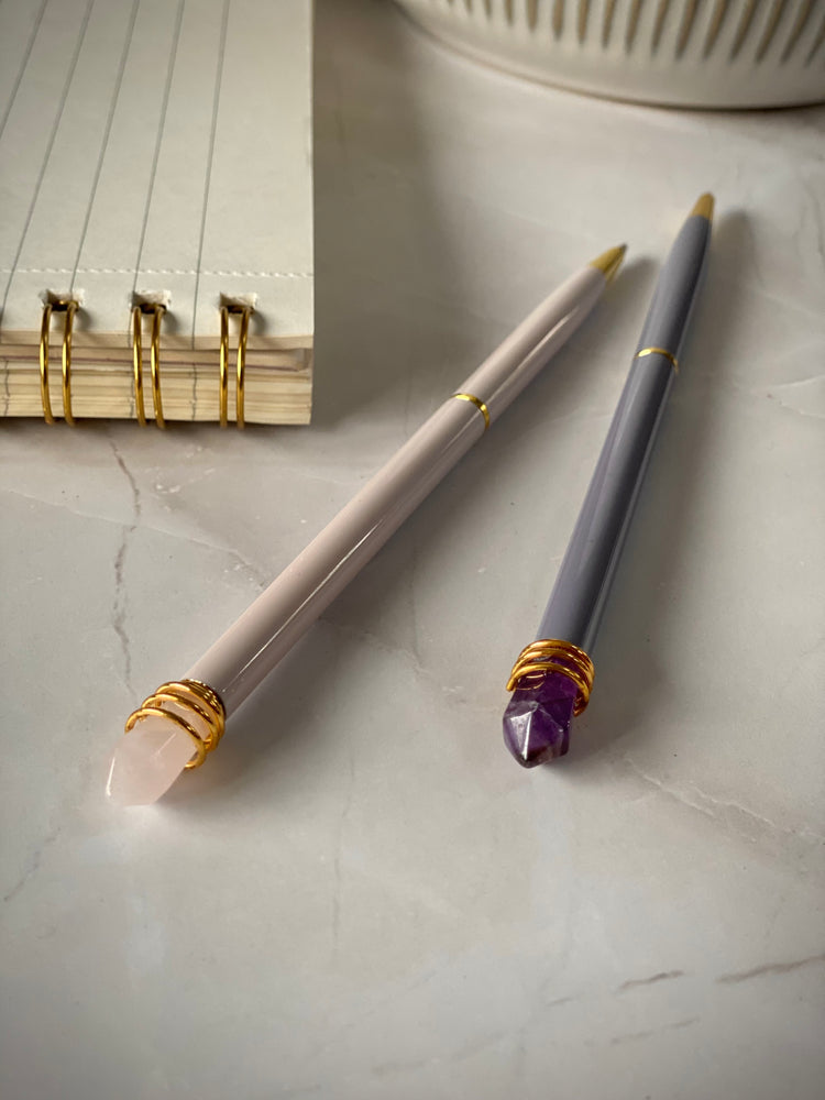 AMETHYST OR ROSE QUARTZ PEN