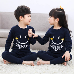 Kinder Baumwolle Unisex Winter Pyjamas