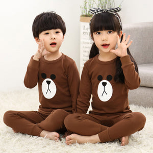 Kinder Baumwolle Unisex Winter Pyjamas Rot