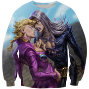 OF-HN1 Anime Clothing XS / Sweatshirt Abbacchio and Giorno Hoodie - Golden Wind JoJo Bizarre Adventure Clothing