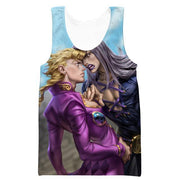OF-HN1 Anime Clothing XS / Tank Top Abbacchio and Giorno Hoodie - Golden Wind JoJo Bizarre Adventure Clothing