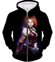 OtakuForm-OP Zip Up Hoodie Zip Up Hoodie / XXS Amazing Harley Quinn Fan Art HD Awesome Black ] Zip Up Hoodie