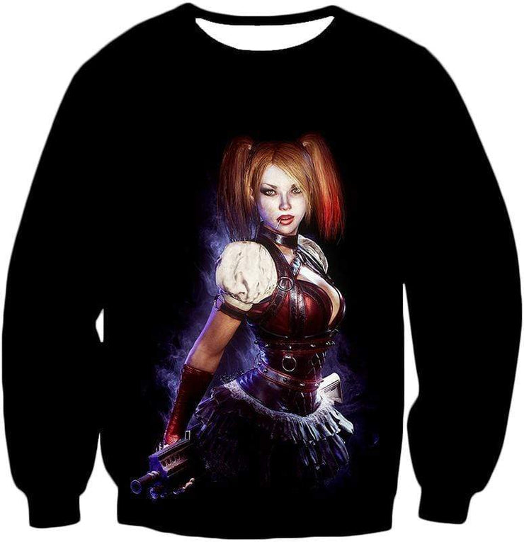 OtakuForm-OP Zip Up Hoodie Sweatshirt / XXS Amazing Harley Quinn Fan Art HD Awesome Black ] Zip Up Hoodie