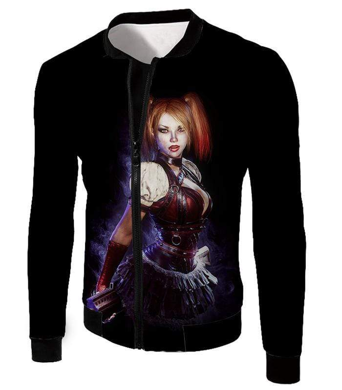 OtakuForm-OP Zip Up Hoodie Jacket / XXS Amazing Harley Quinn Fan Art HD Awesome Black ] Zip Up Hoodie