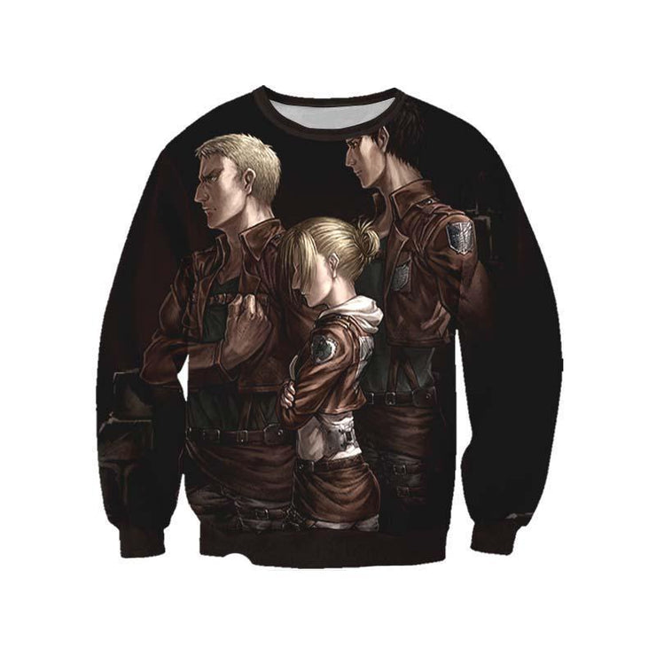 Attack On Titan Sweatshirt XXS / Sweatshirt Annie, Reiner & Bertholdt Sweatshirt - Attack on Titan 3D Printed Sweatshirt