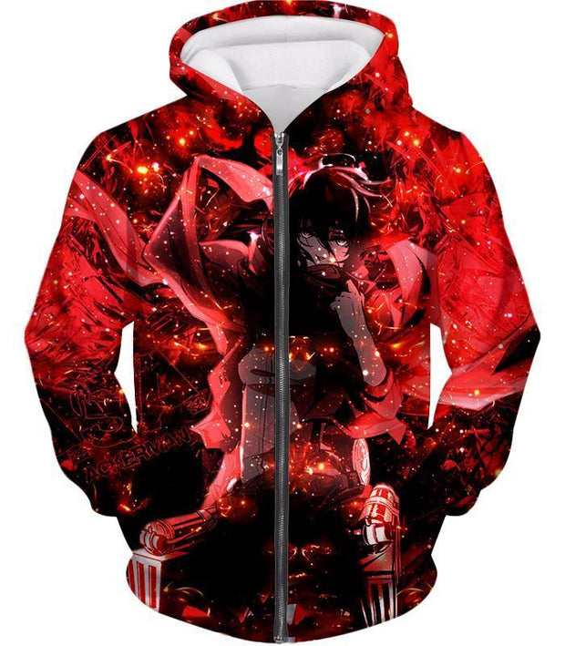 OtakuForm-OP Hoodie Zip Up Hoodie / US XXS (Asian XS) Attack on Titan Awesome Mikasa Ackerman Fan Promo Hoodie