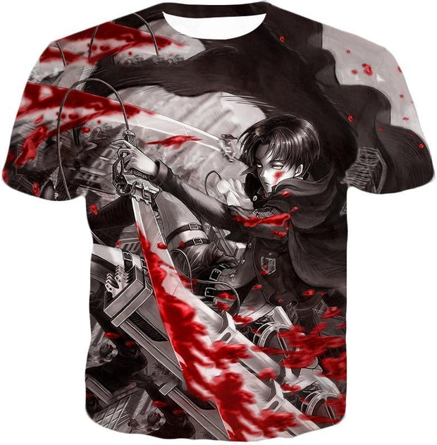 OtakuForm-OP Hoodie T-Shirt / US XXS (Asian XS) Attack on Titan Captain Levi Black and white Themed Hoodie