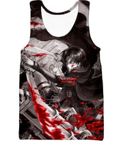 OtakuForm-OP Hoodie Tank Top / US XXS (Asian XS) Attack on Titan Captain Levi Black and white Themed Hoodie