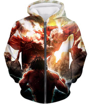 OtakuForm-OP Hoodie Zip Up Hoodie / US XXS (Asian XS) Attack on Titan Cool Captain Levi Action Still Hoodie