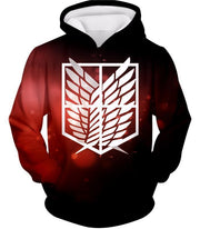 OtakuForm-OP Hoodie Hoodie / US XXS (Asian XS) Attack on Titan Cool Survey Corps Emblem Hoodie