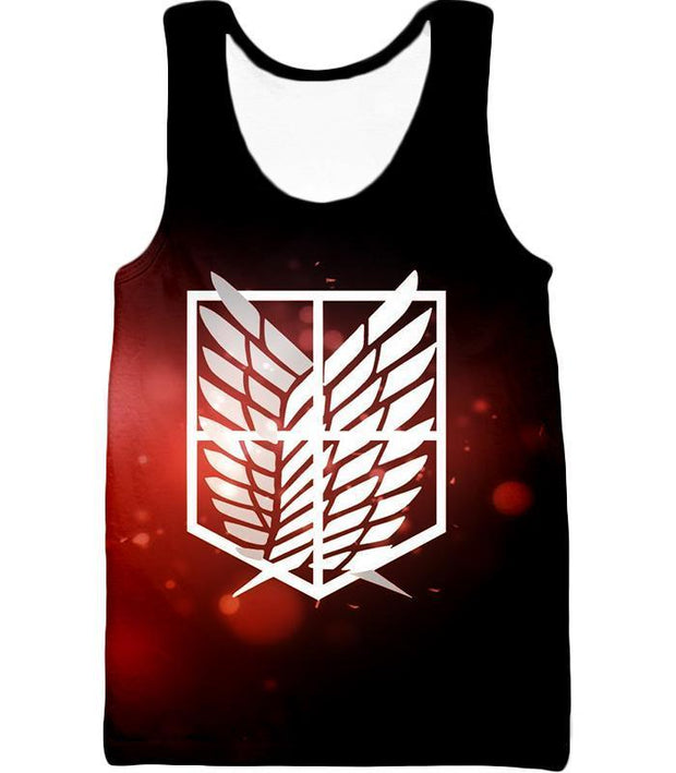 OtakuForm-OP Hoodie Tank Top / US XXS (Asian XS) Attack on Titan Cool Survey Corps Emblem Hoodie