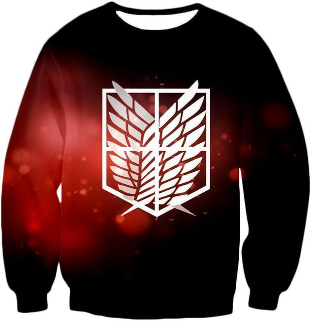 OtakuForm-OP Hoodie Sweatshirt / US XXS (Asian XS) Attack on Titan Cool Survey Corps Emblem Hoodie