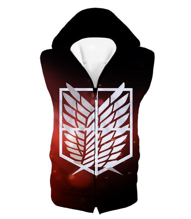 OtakuForm-OP Hoodie Hooded Tank Top / US XXS (Asian XS) Attack on Titan Cool Survey Corps Emblem Hoodie