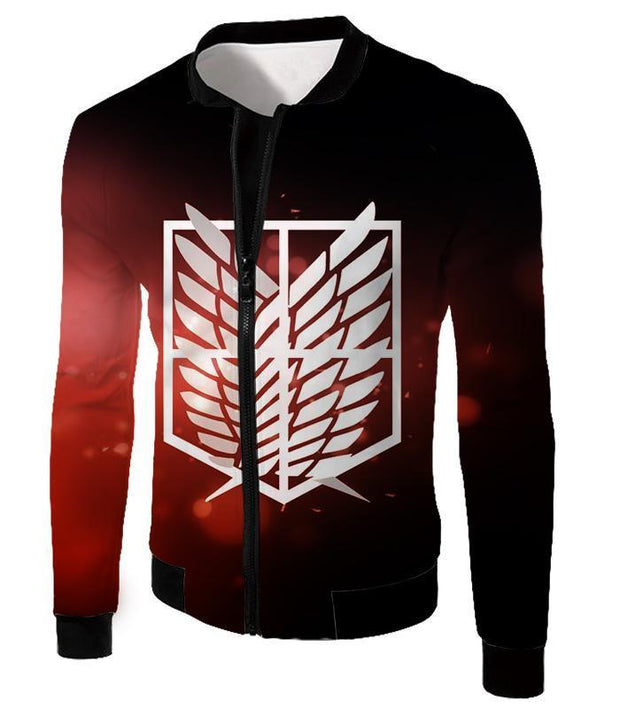 OtakuForm-OP Hoodie Jacket / US XXS (Asian XS) Attack on Titan Cool Survey Corps Emblem Hoodie