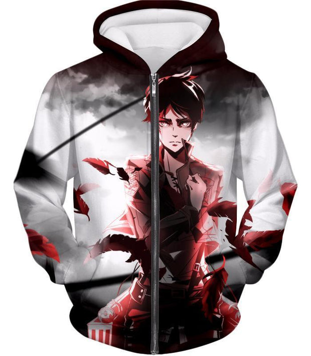 OtakuForm-OP Hoodie Zip Up Hoodie / US XXS (Asian XS) Attack on Titan Cool Survey Corps Soldier Eren Yeager Hoodie  - Anime Hoodie