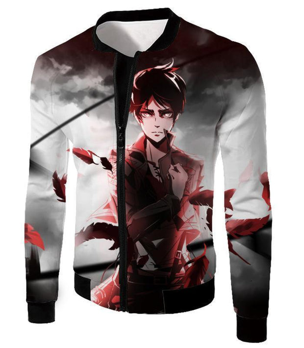 OtakuForm-OP Hoodie Jacket / US XXS (Asian XS) Attack on Titan Cool Survey Corps Soldier Eren Yeager Hoodie  - Anime Hoodie