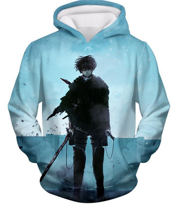 OtakuForm-OP Hoodie Hoodie / US XXS (Asian XS) Attack on Titan Deadly Fighter Captain Levi Blue Hoodie