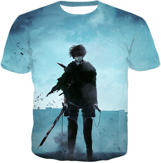 OtakuForm-OP Hoodie T-Shirt / US XXS (Asian XS) Attack on Titan Deadly Fighter Captain Levi Blue Hoodie
