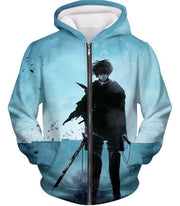 OtakuForm-OP Hoodie Zip Up Hoodie / US XXS (Asian XS) Attack on Titan Deadly Fighter Captain Levi Blue Hoodie