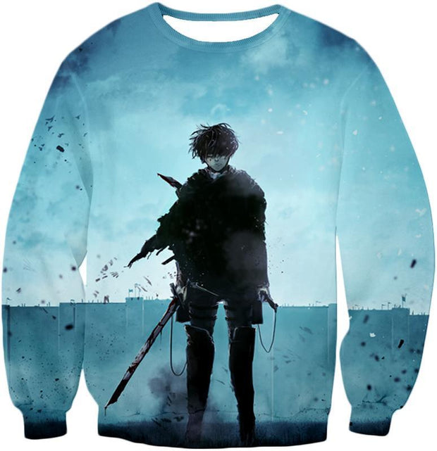 OtakuForm-OP Hoodie Sweatshirt / US XXS (Asian XS) Attack on Titan Deadly Fighter Captain Levi Blue Hoodie