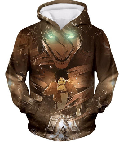 OtakuForm-OP Hoodie Hoodie / US XXS (Asian XS) Attack on Titan Eren Yeager The Titan Dark Hoodie