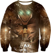 OtakuForm-OP Hoodie Sweatshirt / US XXS (Asian XS) Attack on Titan Eren Yeager The Titan Dark Hoodie