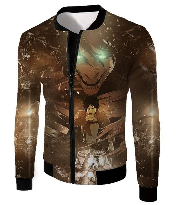 OtakuForm-OP Hoodie Jacket / US XXS (Asian XS) Attack on Titan Eren Yeager The Titan Dark Hoodie