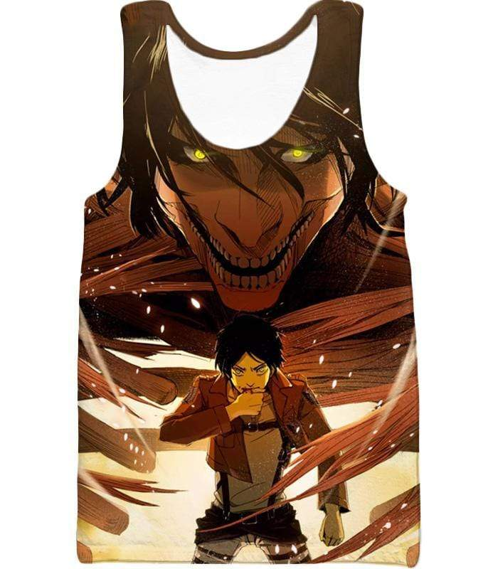 OtakuForm-OP Zip Up Hoodie Tank Top / XXS Attack on Titan Eren Yeager Transforms Titan Zip Up Hoodie Hoodie