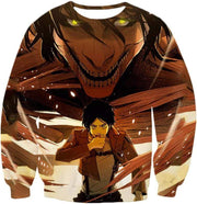 OtakuForm-OP Zip Up Hoodie Sweatshirt / XXS Attack on Titan Eren Yeager Transforms Titan Zip Up Hoodie Hoodie