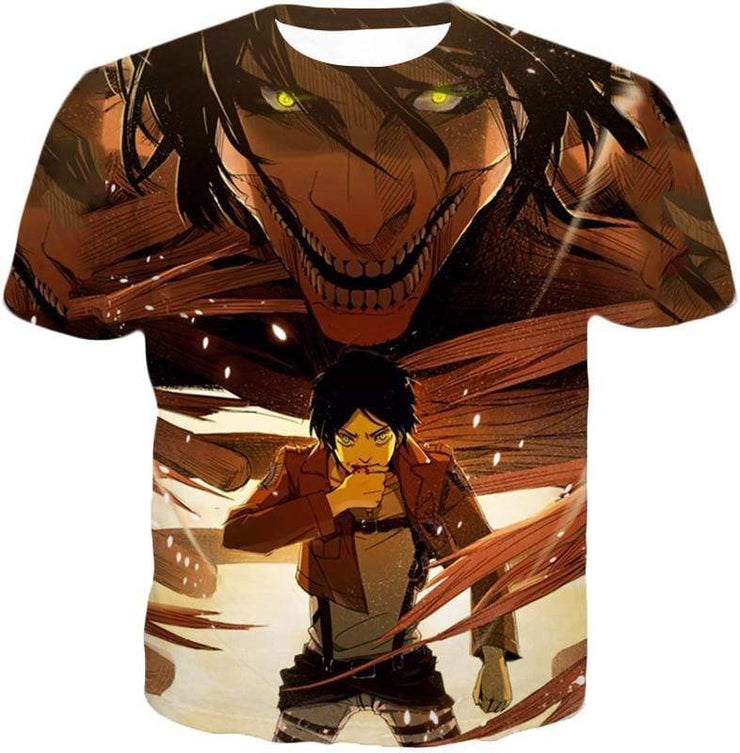 OtakuForm-OP Zip Up Hoodie T-Shirt / XXS Attack on Titan Eren Yeager Transforms Titan Zip Up Hoodie Hoodie