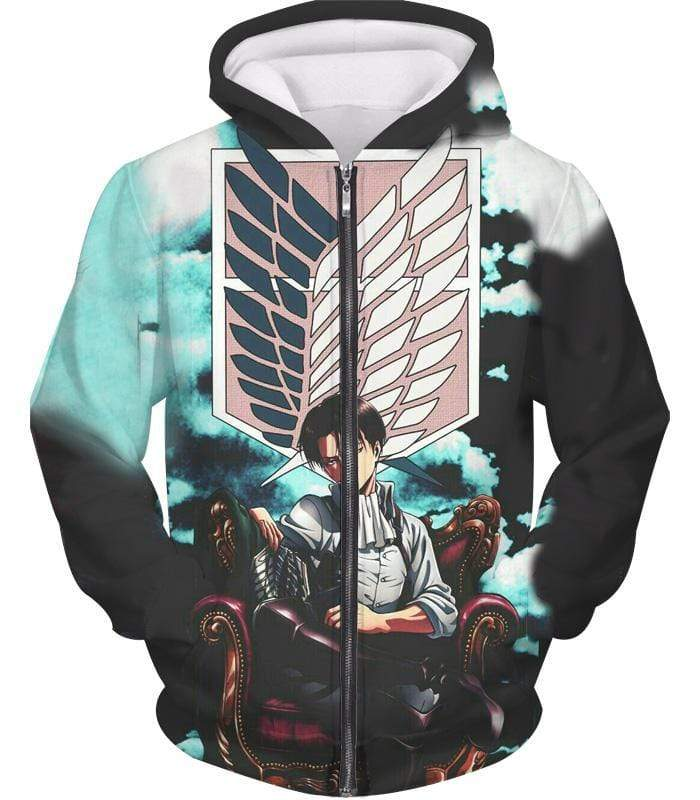 OtakuForm-OP Zip Up Hoodie Zip Up Hoodie / XXS Attack on Titan Heichov Levi Ackerman Zip Up Hoodie Hoodie