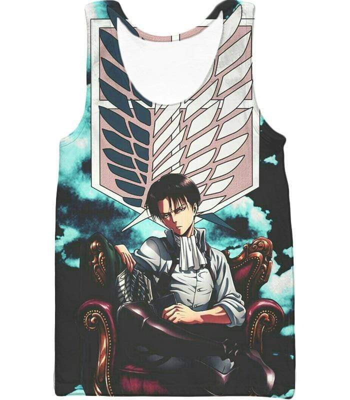 OtakuForm-OP Zip Up Hoodie Tank Top / XXS Attack on Titan Heichov Levi Ackerman Zip Up Hoodie Hoodie