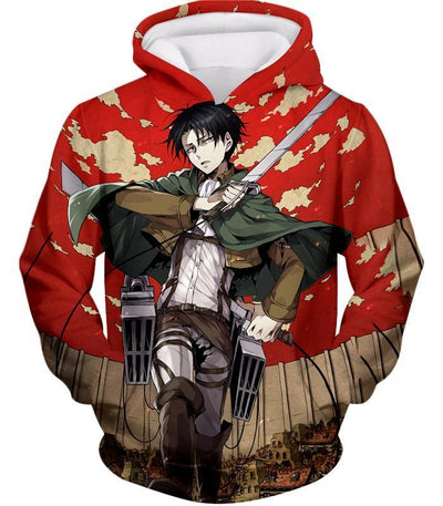 OtakuForm-OP Hoodie Hoodie / XXS Attack On Titan Hoodie - Attack on Titan Incredible Captain Levi Action Anime Promo Hoodie