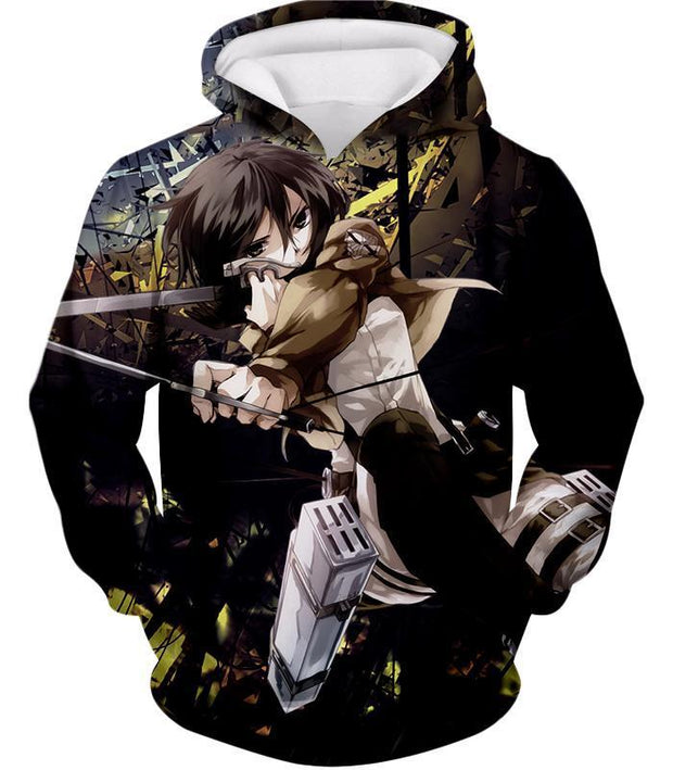 OtakuForm-OP Hoodie Hoodie / US XXS (Asian XS) Attack on Titan Mikasa Ackerman Wings of Freedom Black Hoodie