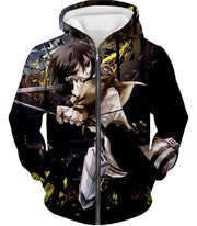 OtakuForm-OP Hoodie Zip Up Hoodie / US XXS (Asian XS) Attack on Titan Mikasa Ackerman Wings of Freedom Black Hoodie