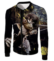 OtakuForm-OP Hoodie Jacket / US XXS (Asian XS) Attack on Titan Mikasa Ackerman Wings of Freedom Black Hoodie