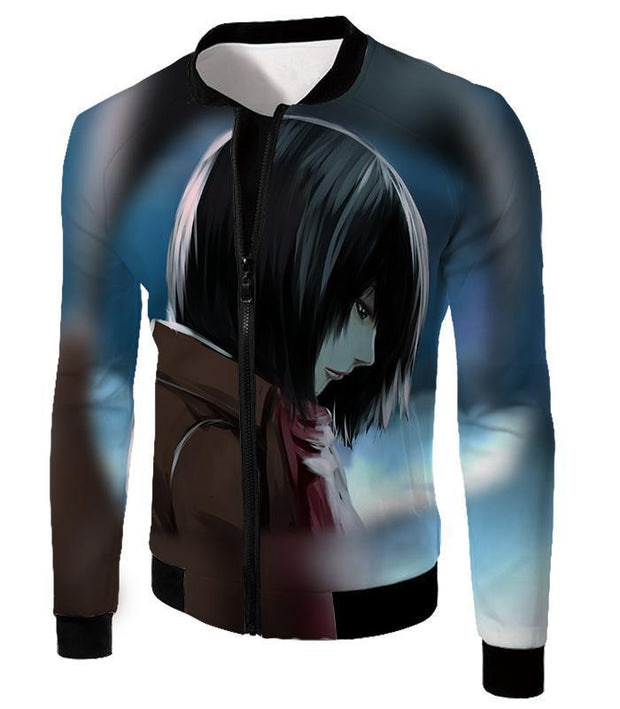 OtakuForm-OP Hoodie Jacket / US XXS (Asian XS) Attack on Titan Most Beautiful Mikasa Ackerman Hoodie